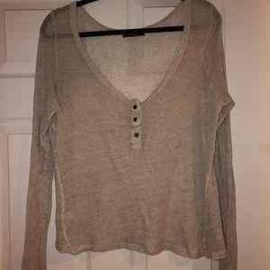Brandy Melville knit lounge top